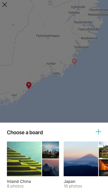 Choose Board to Pin Photo to